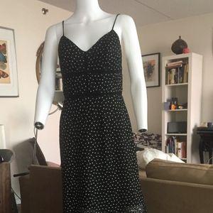 Jill Stuart B & W Embroidered Evening Dress